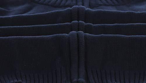 Gioberti Boy's Knitted Full Zip 100% Cotton Cardigan Sweater, Navy, Size 7 by Gioberti (Image #1)