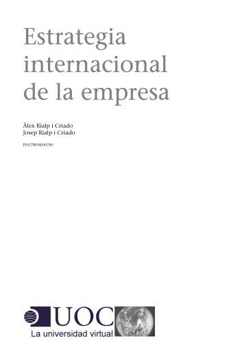 Estrategia de la empresa internacional (Spanish Edition)