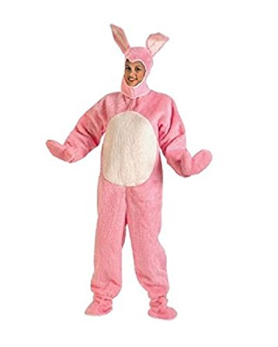Pink Easter Bunny Suit with Open Face Adult Costume Size X-Large (XL)