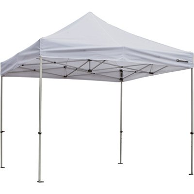 Strongway Commercial-Grade Canopy – 10ft. x 10ft. Straight Leg, White
