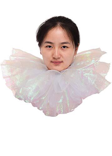 (BLESSUME Glitter Gothic Collar Ruffle Unisex Shiny Neck)