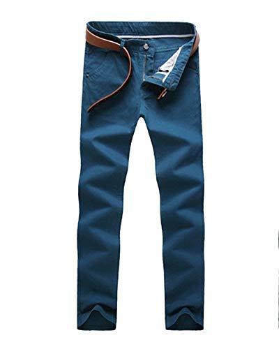 Pantaloni See Slim Unita Da Esterne Elasticizzati Chino Moda blau Completo Con Casual Uomo Tinta Tasche Jogging rq6qwtx