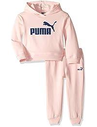 PUMA Girls Fleece Hoodie Set Sweatsuit