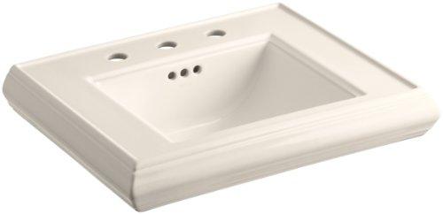 "KOHLER K-2239-8-55 Memoirs Pedestal Bathroom Sink Basin with 8"" Centers, Innocent Blush"