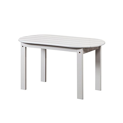 Hawthorne Collections Adirondack Patio Coffee Table in White (Coffee Table Adirondack)