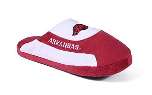 - ARK07-3 - Arkansas Razorbacks - Large - Happy Feet Mens and Womens - NCAA Low Pro Slippers