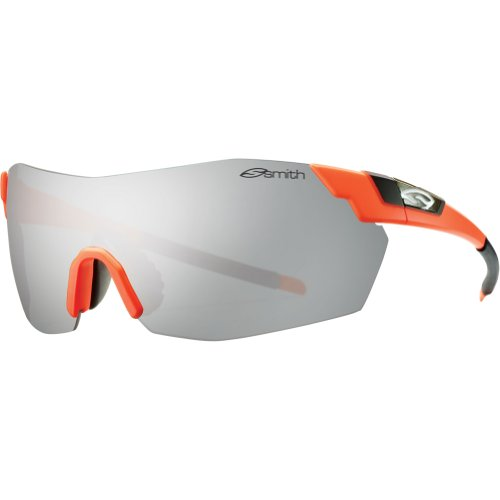 Smith Optics Pivlock V2 Max Premium Performance Rimless Designer Sunglasses - Safety Orange/Super Platinum / One Size Fits - Pivlock Max Sunglasses Smith V2