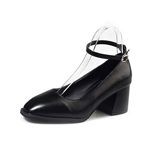 PU Chunky ZHZNVX Pump Heel Spring Brown Black Women's Brown Polyurethane Basic Fall amp; Comfort Green Shoes Heels rrPnqFwE
