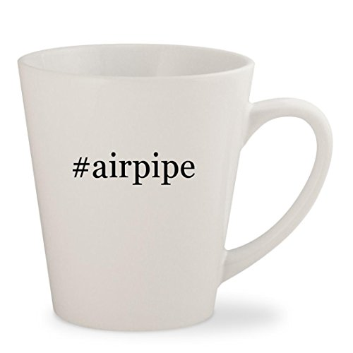 #airpipe - White Hashtag 12oz Ceramic Latte Mug (Hard Piped System)