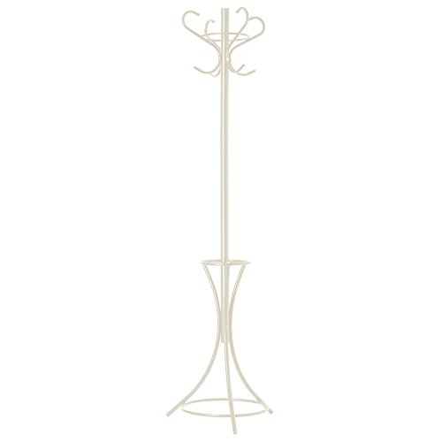 GrayBunny GB-6796 Metal Coat Rack, Cream