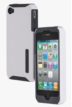 Silicone Silicrylic Incipio (Incipio SILICRYLIC Hard Cover Case for iPhone 4/4S - White Shell & Grey Silicone - Fits Verizon/AT&T iPhone)