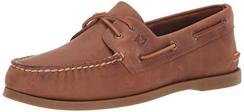 SPERRY Men's A/A/O 2-Eye Varsity Boat Shoe, Tan, 9.5 M US ()