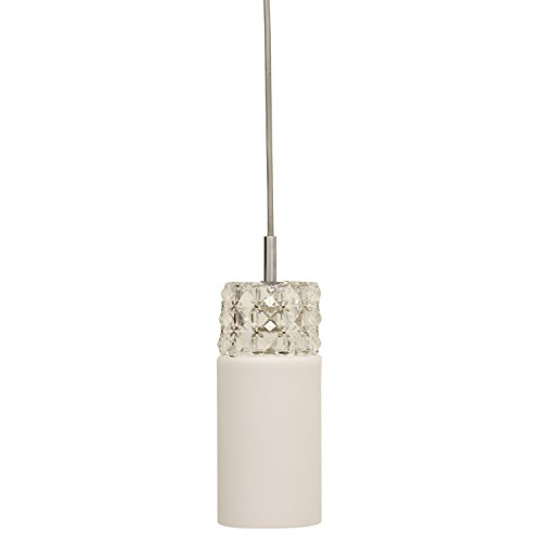 Décor Therapy CH1396 Glass and Crystal Pendant Light, Opal by Décor Therapy