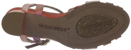 Neosens Moll 484 - Sandalias de cuero para mujer, color Rojo (Rouge (Coral))