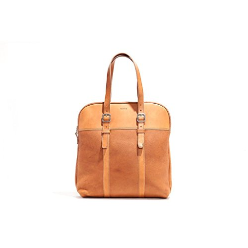 Billykirk No. 207 Padded Lap Top Tote - Tan Milled Leather