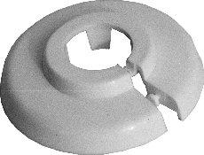 Einzel-Rosetten für Heizungsrohre, Abdeckung für Heizungsrohre, Heizung, 10 Stück, 12mm,15mm, 18mm, 22mm, 28mm, 35mm; weißes Polypropylen (16mm) FUX