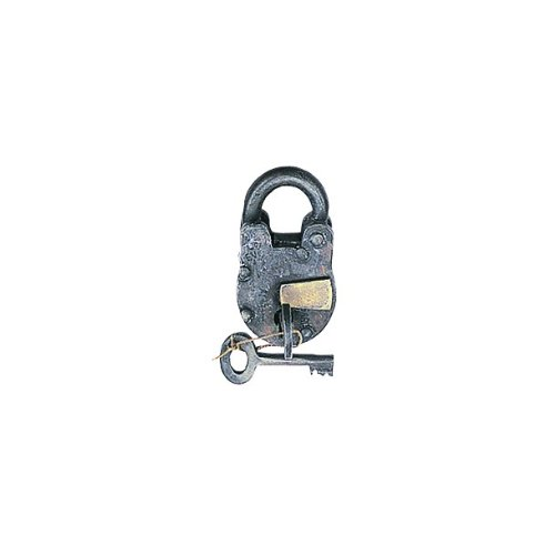 3'' Antique Style Padlock - Iron Jailer Lock with Keys [Misc.]