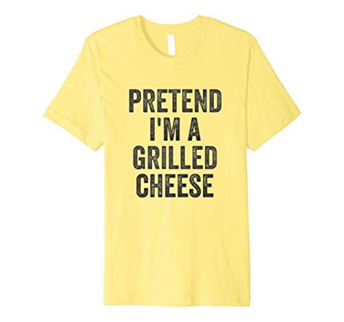 Lazy Halloween Costume Shirt Pretend I'm A Grilled Cheese Premium T-Shirt -