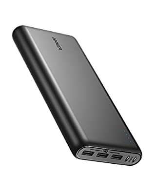 Anker PowerCore 26800 Portable Charger, 26800mAh External Battery with Dual Input Port and Double-Speed Recharging, 3 USB Ports for iPhone, iPad, Samsung Galaxy, Android