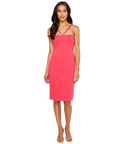 Laundry by Shelli Segal Crepe Midi Dress Bright Rose 10