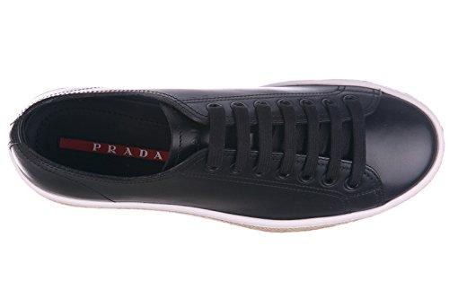 Prada Scarpe Sneakers Uomo in Pelle Nuove Calf Nero