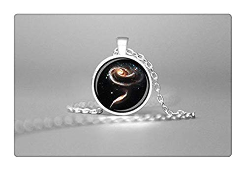 - Sunshine Rose Spiral Galaxy Pendant ,Galaxy Pendant Astronomy Jewelry ,Space Jewelry, Spiral Astronomy Necklace ,Astronomy Gifts