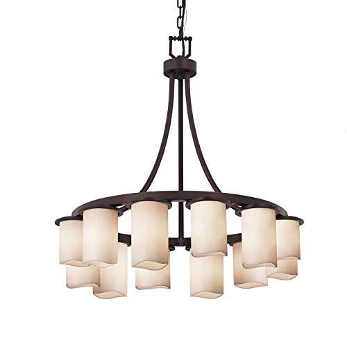 - Justice Design Group Lighting CNDL-8739-14-CREM-DBRZ Dakota Chandelier 28