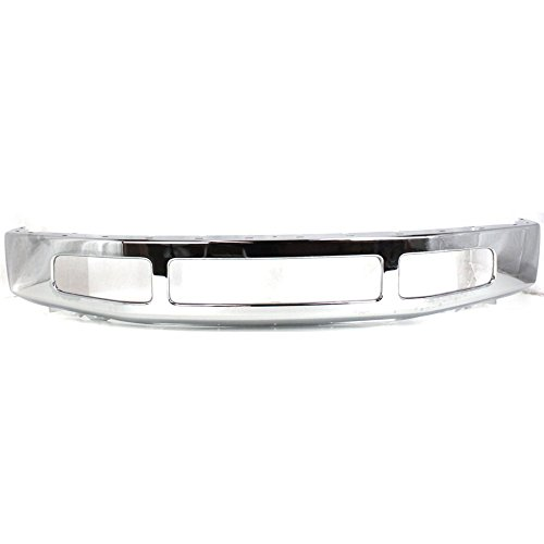 Front Bumper For 2008-2010 Ford F-250/350 Super Duty Chrome Steel w/Moulding Pad Holes ()