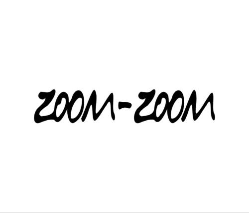 zoom zoom window decal - 2