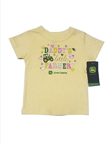 - John Deere Yellow Daddy's Little Farmer T-Shirt Features Tractor on The Front Size 24 Months
