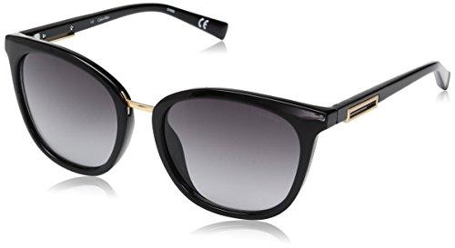 Calvin Klein Women's R732S Square Sunglasses, Black, 53 - Calvin Sunglasses