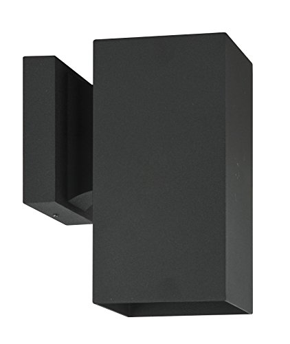 Luminance Contemporary (F6891-31) one Incandescent Light Square Exterior in Black Finish