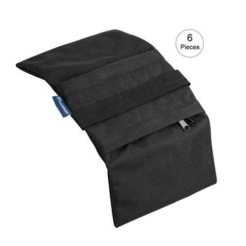 Flashpoint Empty Saddle Sandbag, Water-Resistant Cordura Nylon - (15 lb Capacity, Black) (6 Pack)
