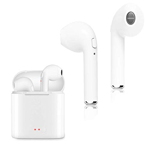 Wireless Bluetooth Headphones Stereo Mini Bluetooth Earbuds with Mic and Charging case for iPhone X 8 7 6 PluSamsung Galaxy S7 S6 and Smartphone etc