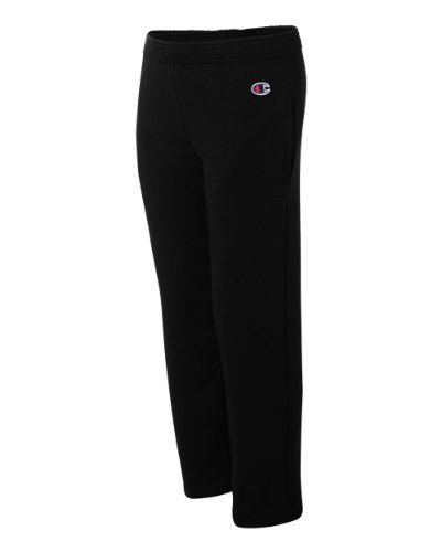 Champion Boys Big Powerblend Eco Fleece Sweatpant, Black, L (Girls Champion Clothes compare prices)