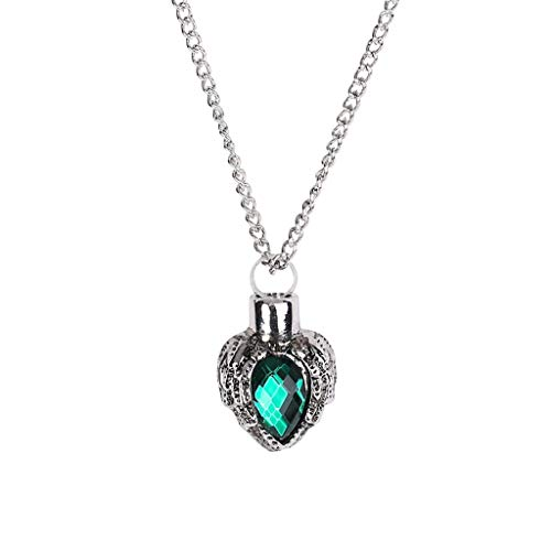 -  AIUSD Clearance , Animal Pet Ashes Memorial Heart Shaped Pendant Can Open The Crystal Urn Necklace