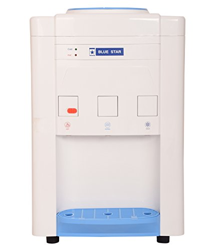 Blue Star Plastic Water Dispenser (White and Blue, Standard Size)