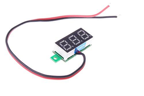 SMAKN® Blue 0.28 Mini 2 Wire DC Voltmeter 2.50~30v Digital Display Voltmeter Gauge LED Voltage Detector