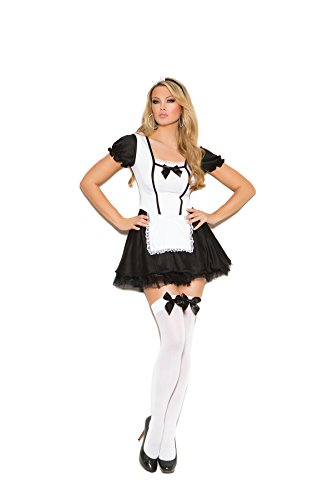 Womens Kinky Sexy Maid Costume Two Piece Set (L, Black/White) (Kinky Costumes)