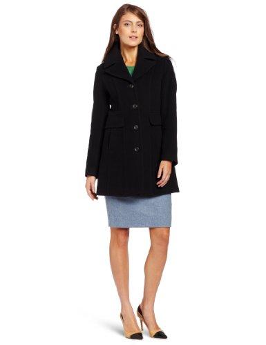 Cole Haan Women's Plush Coat, Black, 8