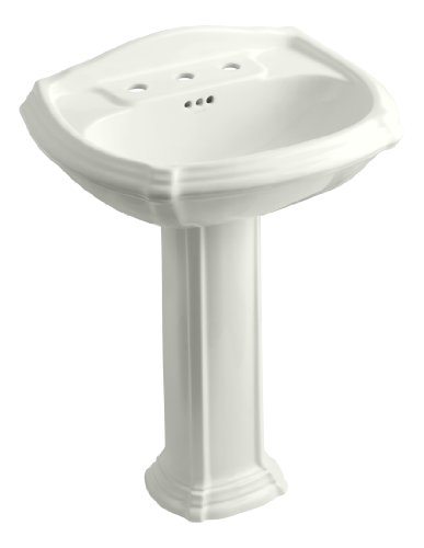 - KOHLER K-2221-8-NY Portrait Pedestal Bathroom Sink with 8