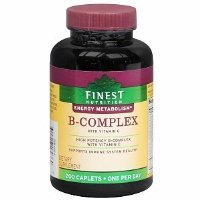 - Finest Nutrition B-Complex with Vitamin C, Caplets 200 ea