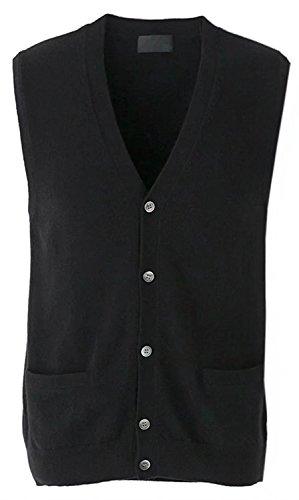 DigerLa Men's V Neck Cashmere Knitted Sleeveless Sweater Vest