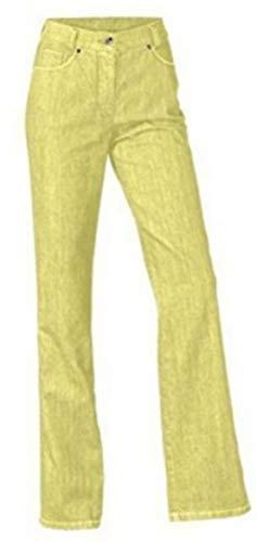 Pantalones Pantalón Vientre Del Connections Amarillo De Tamaño Manera Largo Best Mujer qwwBZ4CE