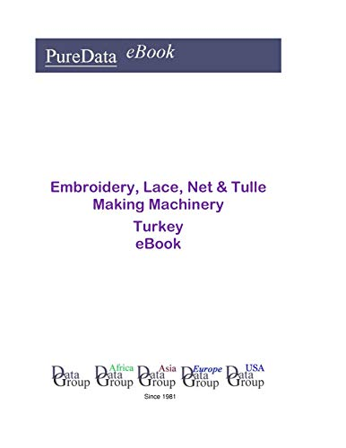 Embroidery, Lace, Net & Tulle Making Machinery in Turkey: Market Sales