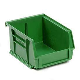 4 1/8 Divider Bin - Plastic Stacking Bin 4-1/8 x 5-3/8 x 3, Green - Lot of 24