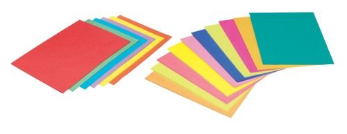 Pacon 102201 Bond Copy Paper, 8-1/2'' x 11'' Size, Bright Assortment (Pack of 500)
