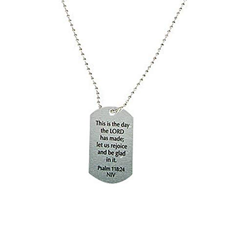 Religious Sayings Dog Tag Necklaces by Fun Express