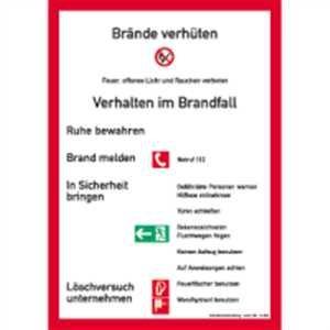 sicherheitsaushang din 14096 teil a brandschutzordnung fr bauliche anlagen in der keine handfeuermelder und - Brandschutzordnung Muster
