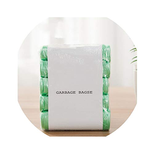 5 Rolls/pack(100pcs) 45x50cm Disposable Trash Bags Household Plastic Bags Garbage Bags For Kitchen,Green,45x50cm